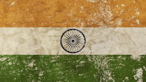 Old grunge vintage faded Republic of India flag Royalty Free Stock Photography