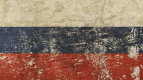 Old grunge vintage faded Russian Federation flag. Old grunge vintage dirty faded shabby distressed Russia or Russian Federation national flag background Stock Photo