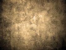 Old and grunge wall texture in sepia color Royalty Free Stock Photography