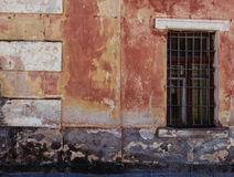 Old grunge wall with window close-up Royalty Free Stock Image