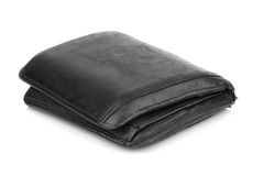 Old grunge wallet isolated on white background Royalty Free Stock Photo