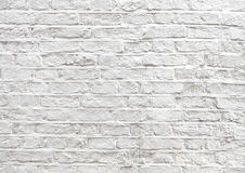 Old grunge white painted brick texture background Royalty Free Stock Photography