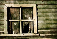 Old grunge window Stock Photography