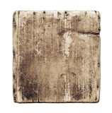 Old grunge wood board isolated on white. With clipping path Royalty Free Stock Image