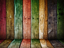 Old grunge wood panel Stock Image