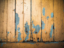 Old grunge wood panel painted orange Royalty Free Stock Photo