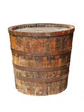 Old grunge wooden barrel.Isolated. Royalty Free Stock Photo