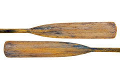 Old grunge wooden oars Stock Image