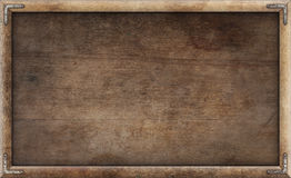 Old grunge wooden picture frame Stock Image