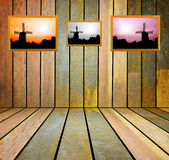 Old, grunge wooden wall used as background Royalty Free Stock Photo
