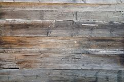 Old, grunge wooden wall used as background Royalty Free Stock Photos