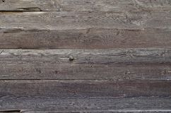 Old, grunge wooden wall used as background Stock Images