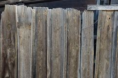 Old, grunge wooden wall used as background Royalty Free Stock Images