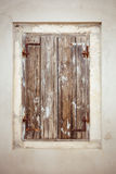 Old grunge wooden window detail Stock Images