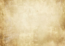 Old grunge yellowed paper texture. Aged and yellowed paper background. Vintage paper texture for the design Royalty Free Stock Photos