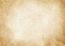 Old grunge yellowed paper texture. Aged and yellowed paper background. Vintage paper texture for the design Royalty Free Stock Image