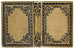 Old grunged, stained book. Old grunged, stained and beige book front Royalty Free Stock Photography