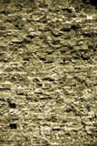 Old grungy background of a brick wall texture Stock Image