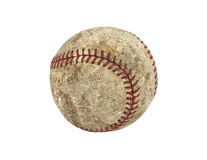 Old Grungy Baseball. Old worn grungy baseball isolated with clipping path Royalty Free Stock Photos