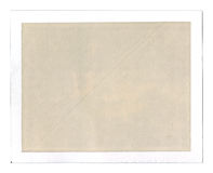 Old grungy blank peel-apart instant film frame Royalty Free Stock Images