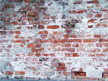 Old grungy brick wall. Photo of old red grungy brick wall. Big size and high quality. Can be used like a background or texture stock image