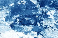 Free Old Grungy Brick Wall Texture In Navy Blue Tone Royalty Free Stock Photo - 150708505