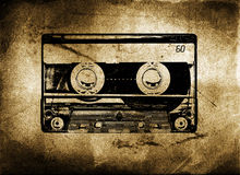 Old Grungy cassette tape stock illustration