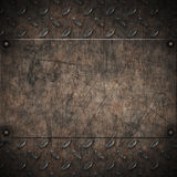 Old grungy diamond plate metal Royalty Free Stock Images