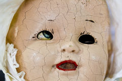 Old grungy dolls face Royalty Free Stock Photo