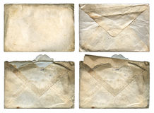 Old Grungy Envelopes XXL. Old Envelopes - grungy surfaces - isolated with clipping path - XXL size Stock Photos