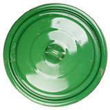 Old grungy green cooking pot lid Royalty Free Stock Photo