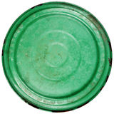 Old grungy green cooking pot lid Royalty Free Stock Image