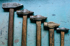Old grungy hammers Royalty Free Stock Images