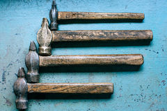 Old grungy hammers Royalty Free Stock Photo