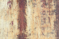 Old grungy metal wall with red rust. Texture Royalty Free Stock Photo