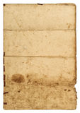 Old grungy paper sheet with edges. Used texture Royalty Free Stock Photography