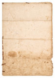 Old grungy paper sheet. Used paper texture Royalty Free Stock Photos