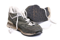 Old grungy Running Shoes Stock Photo