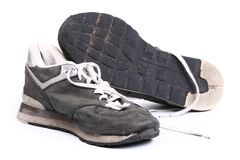 Old grungy Running Shoes royalty free stock photos