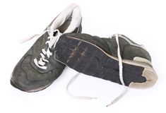 Old grungy Running Shoes Royalty Free Stock Photography