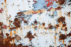 Old grungy rusted ship hull background texture Stock Image