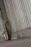 Old grungy saxophone Royalty Free Stock Photos