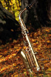 Old grungy saxophone Royalty Free Stock Photo