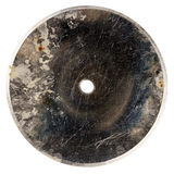 Old  grungy scratched metal disk Stock Photos