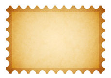 Old grungy stamp. An old and dirty blank stamp template isolated on white Royalty Free Stock Images