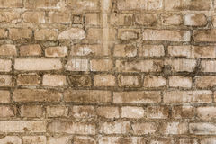 Old grungy texture, grey brick wall Stock Images