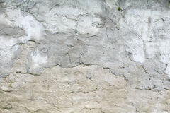 Old grungy texture, grey concrete wall. The texture of the concrete wall, wattle and daub plaster gray royalty free stock photography