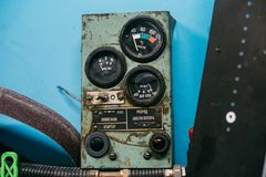 Old grungy USSR meters royalty free stock photos