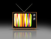 Old grungy vintage TV Stock Image
