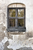Old Grungy Wall with A Window Stock Photography